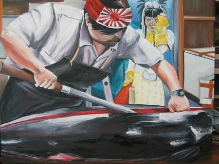 Artiste peintre peinture au couteau tableaux huile narrative - Cote d un artiste peintre ...